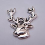 Stag Head Personalised Wine Glass Charm